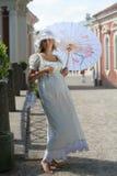 κυρία καπέλων Στοκ εικόνες με δικαίωμα ελεύθερης χρήσης