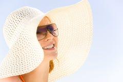 κυρία καπέλων Στοκ Φωτογραφίες