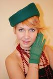 κυρία καπέλων Στοκ φωτογραφίες με δικαίωμα ελεύθερης χρήσης