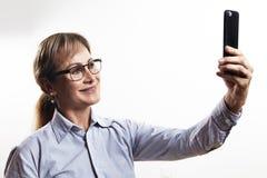 Κυρία κινητή Στοκ εικόνες με δικαίωμα ελεύθερης χρήσης