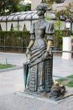 Κυρία με ένα σκυλί Μνημείο στο Anton Chekhov σε Yalta Στοκ Εικόνα