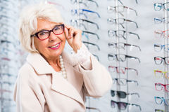 Κυρία με την ατέλεια ματιών Στοκ Φωτογραφίες