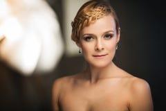 Κυρία με την πλεξούδα Στοκ φωτογραφίες με δικαίωμα ελεύθερης χρήσης