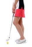 κυρία παικτών γκολφ στοκ εικόνα