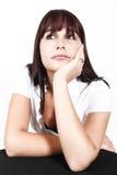 κυρία που σκέφτεται νέα Στοκ εικόνα με δικαίωμα ελεύθερης χρήσης