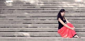 Κυρία στα βήματα Στοκ Φωτογραφία