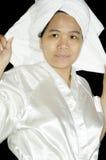 Κυρία στο λευκό στοκ φωτογραφίες με δικαίωμα ελεύθερης χρήσης