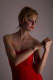 Κυρία στο κόκκινο Στοκ Φωτογραφία
