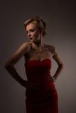 Κυρία στο κόκκινο Στοκ Εικόνες