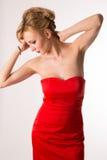 Κυρία στο κόκκινο Στοκ φωτογραφία με δικαίωμα ελεύθερης χρήσης