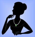 Κυρία στο περιδέραιο ελεύθερη απεικόνιση δικαιώματος
