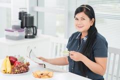 Κυρία στο τσάι Στοκ φωτογραφία με δικαίωμα ελεύθερης χρήσης