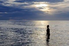 Κυρία σωμάτων σκιαγραφιών Στοκ Φωτογραφία