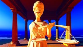 Κυρία της δικαιοσύνης στο δικαστήριο Στοκ εικόνα με δικαίωμα ελεύθερης χρήσης