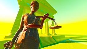 Κυρία της δικαιοσύνης στο δικαστήριο Στοκ φωτογραφία με δικαίωμα ελεύθερης χρήσης