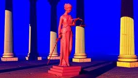 Κυρία της δικαιοσύνης στο δικαστήριο Στοκ Εικόνες