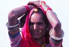 Κυρία τσιγγάνων, Rajasthan Ινδία Στοκ Εικόνες