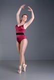 κυρία χορευτών μπαλέτου pointe Στοκ Φωτογραφία