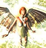 Κυρία Angel Ελεύθερη απεικόνιση δικαιώματος