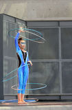 Κυρία - Caterpillar με τις στεφάνες Στοκ φωτογραφία με δικαίωμα ελεύθερης χρήσης