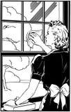 Κυρία Cleaning Window διανυσματική απεικόνιση