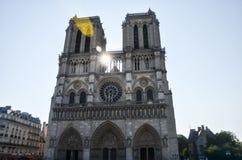 Κυρία de Παρίσι Cathédrale notre Στοκ Εικόνες