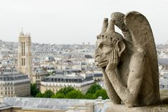 κυρία gargoyle notre Παρίσι Στοκ Φωτογραφία