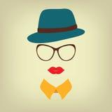 Κυρία Hipster με ένα καπέλο Στοκ εικόνα με δικαίωμα ελεύθερης χρήσης