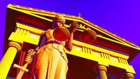 Κυρία Justice στο δικαστήριο Στοκ Φωτογραφία