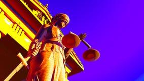 Κυρία Justice στο δικαστήριο Στοκ Εικόνες