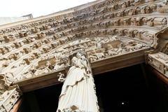 κυρία notre Παρίσι καθεδρικών &n Στοκ εικόνα με δικαίωμα ελεύθερης χρήσης