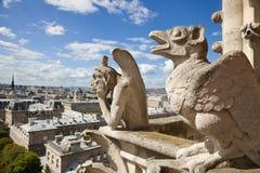 κυρία notre Παρίσι χιμαιρών Στοκ Εικόνες