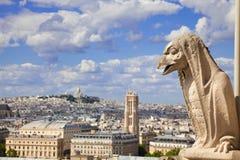 κυρία notre Παρίσι χιμαιρών Στοκ φωτογραφία με δικαίωμα ελεύθερης χρήσης
