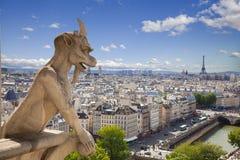 κυρία notre Παρίσι χιμαιρών Στοκ Φωτογραφίες