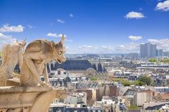 κυρία notre Παρίσι χιμαιρών Στοκ Εικόνα
