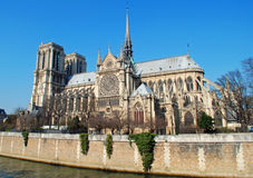κυρία notre Παρίσι στοκ εικόνες με δικαίωμα ελεύθερης χρήσης