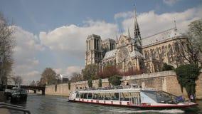 κυρία notre Παρίσι απόθεμα βίντεο