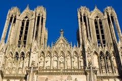 κυρία notre Reims καθεδρικών ναών Στοκ εικόνες με δικαίωμα ελεύθερης χρήσης