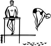 Κυρία Spring Board Diver Στοκ εικόνες με δικαίωμα ελεύθερης χρήσης