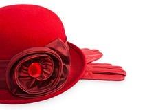 κυρίες καπέλων γαντιών Στοκ Εικόνες