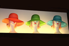 κυρίες καπέλων Στοκ φωτογραφία με δικαίωμα ελεύθερης χρήσης