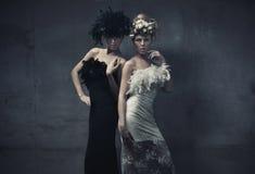 κυρίες μόδας Στοκ Φωτογραφίες