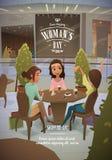 Κυρίες στη λεωφόρο που πίνει ένα κοκτέιλ Στοκ εικόνα με δικαίωμα ελεύθερης χρήσης