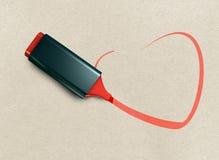κυριώτερο σημείο καρδιών Στοκ φωτογραφίες με δικαίωμα ελεύθερης χρήσης