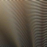 Κυρτές κυματιστές χρυσές γραμμές Στοκ φωτογραφία με δικαίωμα ελεύθερης χρήσης