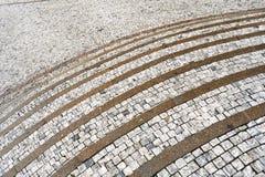 κυρτή παλαιά πέτρα βημάτων Στοκ Εικόνες