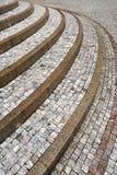 κυρτή παλαιά πέτρα βημάτων Στοκ Εικόνα