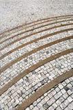 κυρτή παλαιά πέτρα βημάτων Στοκ Φωτογραφίες