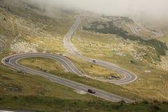 Κυρτός δρόμος Transfagarasan, Ρουμανία άνωθεν στοκ εικόνες με δικαίωμα ελεύθερης χρήσης