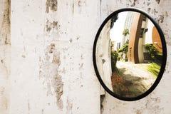 Κυρτός καθρέφτης Mesure ασφάλειας Στοκ εικόνα με δικαίωμα ελεύθερης χρήσης